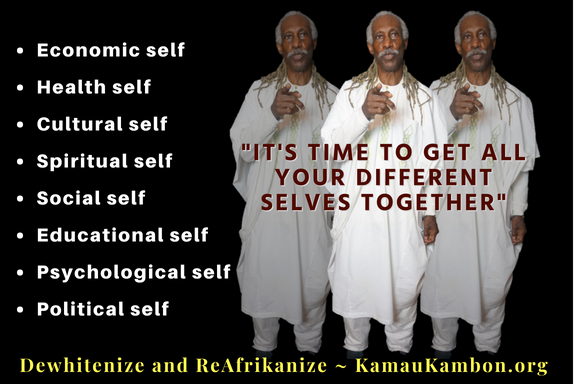 Dr Kamau Kambon quote It is time to get all your different selves together